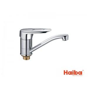 Смеситель для кухни HAIBA 555 DISK ГАЙКА 15 см.
