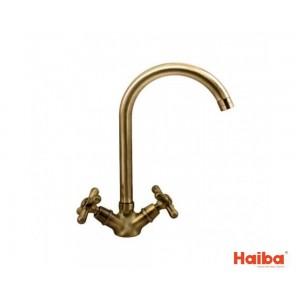 Смеситель для кухни HAIBA 274 DOMINOX BRONZE