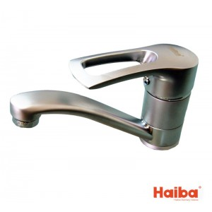 Смеситель для кухни HAIBA 004 HANSBERG НЕРЖ 15 см.