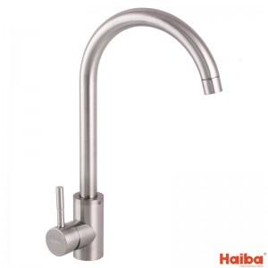 Смеситель для кухни УХО HAIBA SUS-011 из нержавеющей стали 017