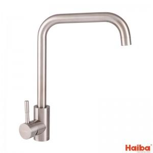 Смеситель для кухни УХО HAIBA SUS-011-G из нержавеющей стали 017