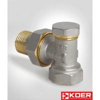 KOER кран радиаторный угловой низ 902-3/4' x 3/4'