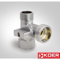 KOER вентиль хром 515 1/2' х3/4''x1/2'