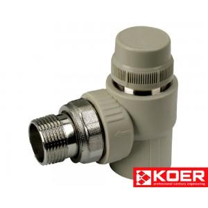 KOER PPR Кран термостатический угловой 20x1/2'