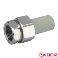 KOER PPR Разборное 20x1/2F резьбовое соединение ВР