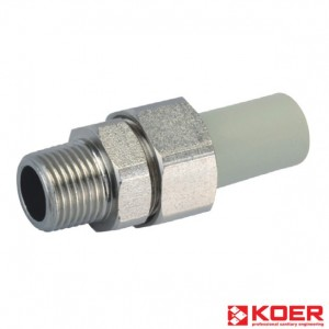 KOER PPR Разборное 20x1/2M резьбовое соединение НР