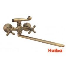 Смеситель для ванны HAIBA 140 DOMINOX BRONZE EURO