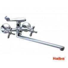 Смеситель для ванны HAIBA 140 DOMINOX EURO SATIN
