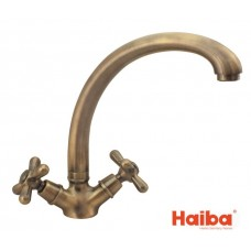 Смеситель для кухни HAIBA 273 DOMINOX BRONZE