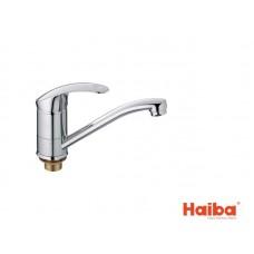 Смеситель для кухни HAIBA 555 MARS ГАЙКА 15 см.