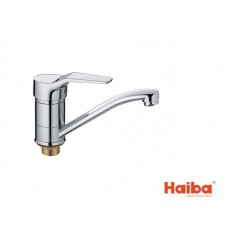 Смеситель для кухни HAIBA 555 ZEON ГАЙКА 15 см.