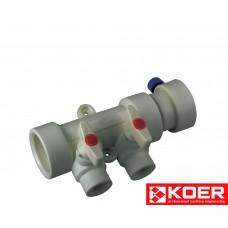 KOER PPR Коллектор 2-way с шаровыми  кранами (40x20)