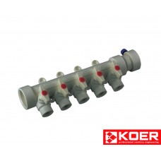 KOER PPR Коллектор 5-way с шаровыми  кранами (40x20)